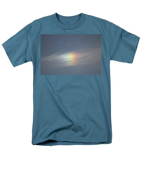 Men's T-Shirt  (Regular Fit) featuring the photograph Rainbow In The Clouds by Eti Reid