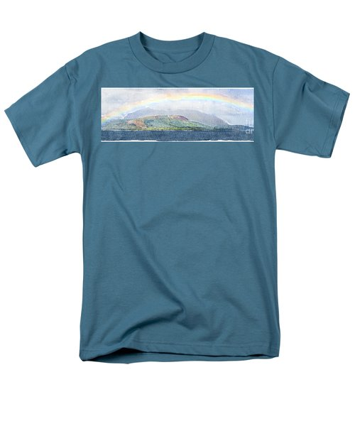 Rainbow Over The Isle Of Arran Men's T-Shirt  (Regular Fit) by Liz Leyden