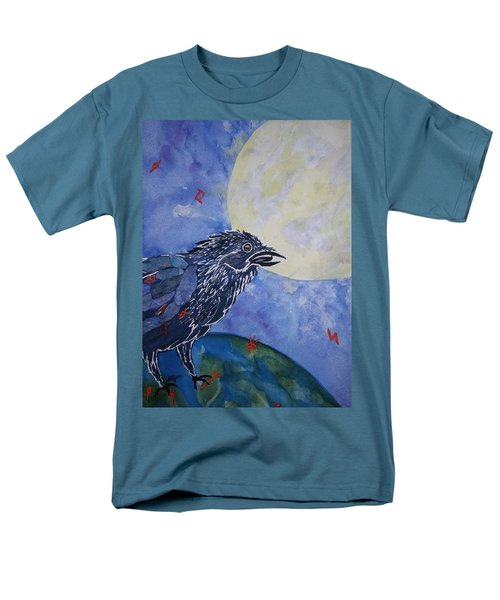 Raven Speak Men's T-Shirt  (Regular Fit) by Ellen Levinson