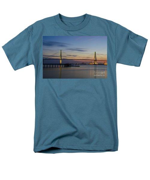 Ravenel Bridge Nightfall Men's T-Shirt  (Regular Fit) by Dale Powell