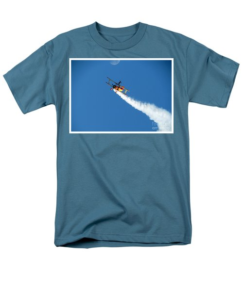 Reaching For The Moon. Oshkosh 2012. Postcard Border. Men's T-Shirt  (Regular Fit) by Ausra Huntington nee Paulauskaite