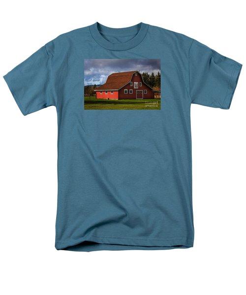 Men's T-Shirt  (Regular Fit) featuring the photograph Red Kirsop Barn by Jean OKeeffe Macro Abundance Art