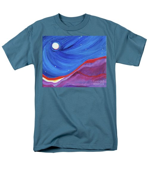 Men's T-Shirt  (Regular Fit) featuring the painting Red Ridge By Jrr by First Star Art