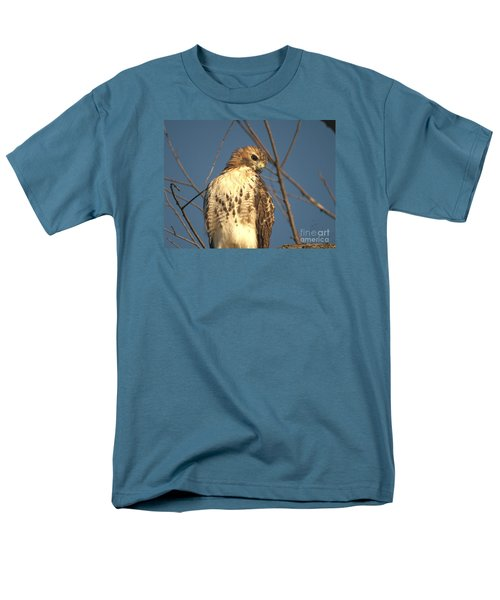 Red Tailed Hawk  Men's T-Shirt  (Regular Fit) by Susan  Dimitrakopoulos