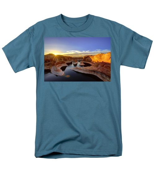 Reflection Canyon Sunrise Men's T-Shirt  (Regular Fit) by Dustin  LeFevre