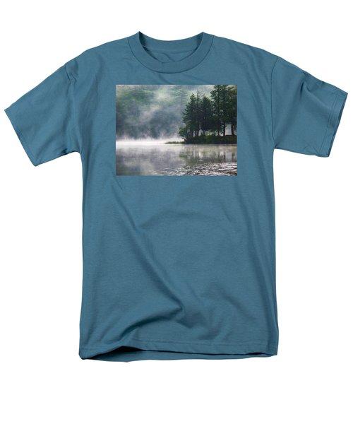 Men's T-Shirt  (Regular Fit) featuring the photograph Ridge Road Morning Mist by Joy Nichols