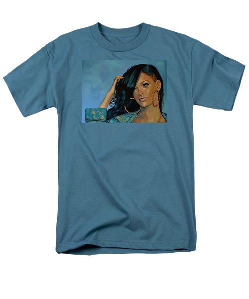 Rihanna Painting Men's T-Shirt  (Regular Fit) by Paul Meijering