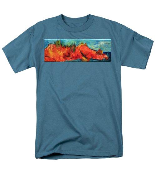 Roasted Rock Coast Men's T-Shirt  (Regular Fit) by Elizabeth Fontaine-Barr