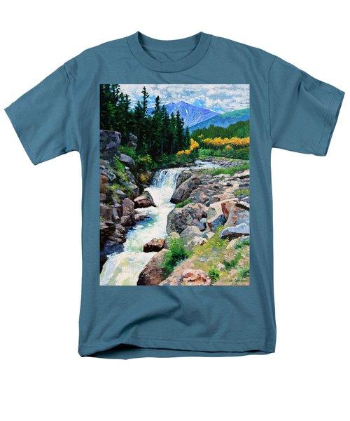 Rocky Mountain High Men's T-Shirt  (Regular Fit) by John Lautermilch
