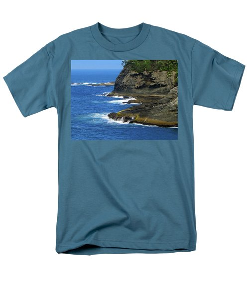 Men's T-Shirt  (Regular Fit) featuring the photograph Rocky Shores by Tikvah's Hope