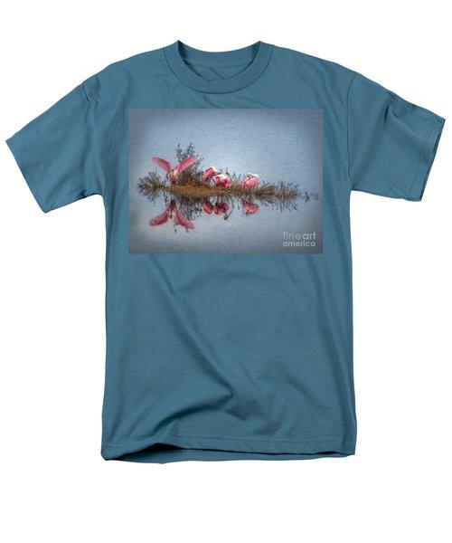 Men's T-Shirt  (Regular Fit) featuring the digital art Roseate Spoonbills At Rest by Lianne Schneider