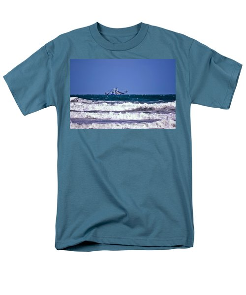 Men's T-Shirt  (Regular Fit) featuring the photograph Rough Seas Shrimping by DigiArt Diaries by Vicky B Fuller
