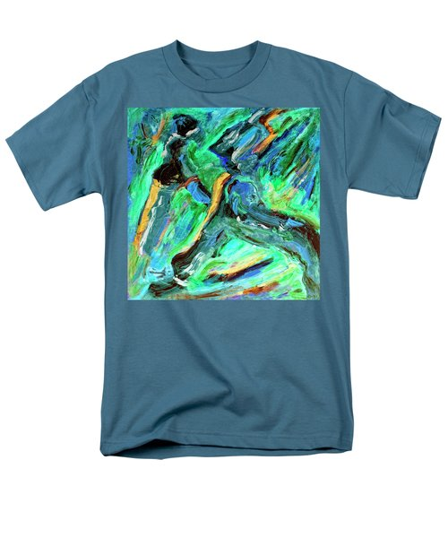 Men's T-Shirt  (Regular Fit) featuring the painting Runners by Dominic Piperata