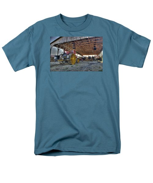 Russell At The Saw Mill Men's T-Shirt  (Regular Fit) by Shelly Gunderson