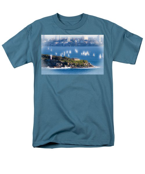 Men's T-Shirt  (Regular Fit) featuring the photograph Sails Out To Play by Miroslava Jurcik