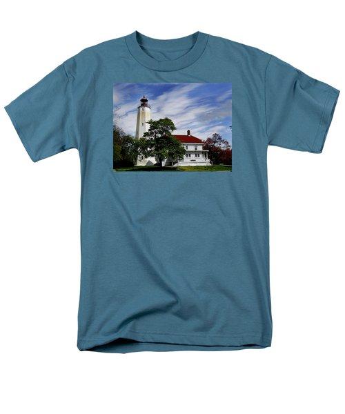 Sandy Hook Lighthouse Nj Men's T-Shirt  (Regular Fit) by Skip Willits