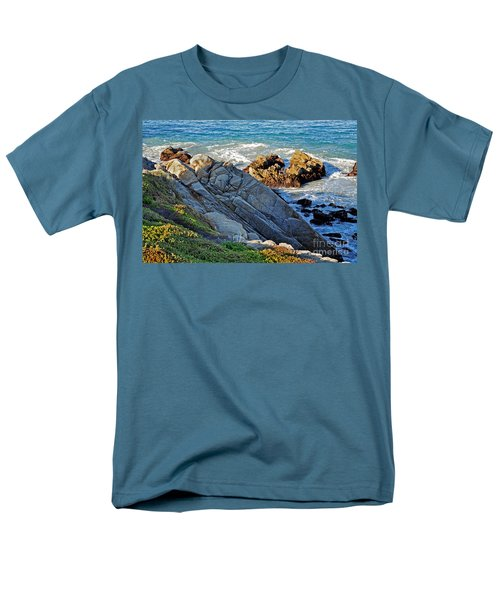 Sarcophagus Formation On Seaside Rocks Men's T-Shirt  (Regular Fit) by Susan Wiedmann