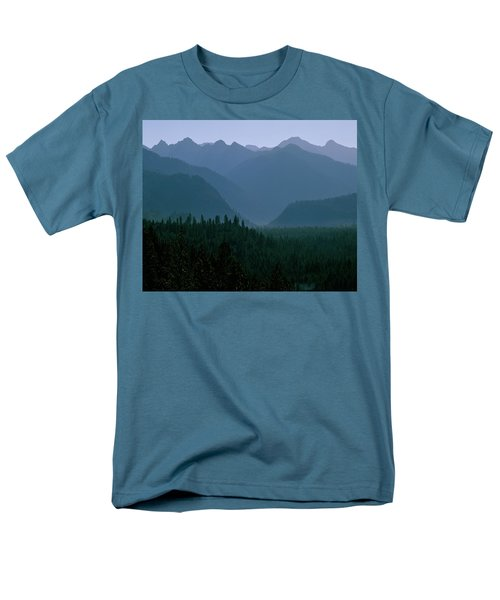 Sawtooth Mountains Silhouette Men's T-Shirt  (Regular Fit) by Ed  Riche
