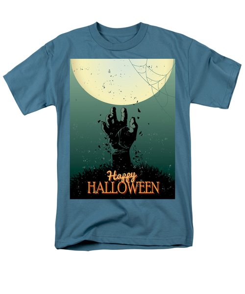 Men's T-Shirt  (Regular Fit) featuring the painting Scary Halloween by Gianfranco Weiss