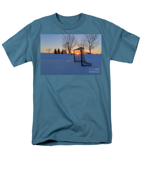 Scoring The Sunset Men's T-Shirt  (Regular Fit) by Darcy Michaelchuk