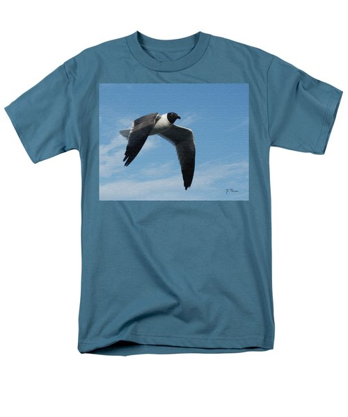 Men's T-Shirt  (Regular Fit) featuring the photograph Seagull In Flight by James C Thomas