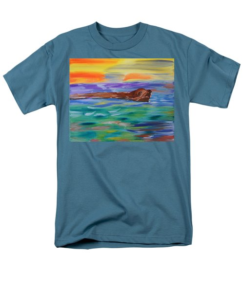 Men's T-Shirt  (Regular Fit) featuring the painting Sunny Sea Lion by Meryl Goudey