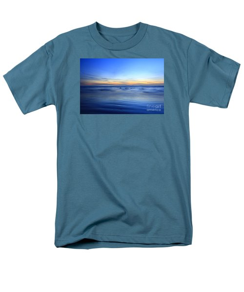 Men's T-Shirt  (Regular Fit) featuring the photograph Rocks In Surf Carlsbad by John F Tsumas
