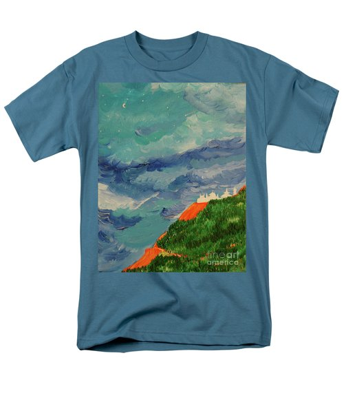 Men's T-Shirt  (Regular Fit) featuring the painting Shangri-la by First Star Art