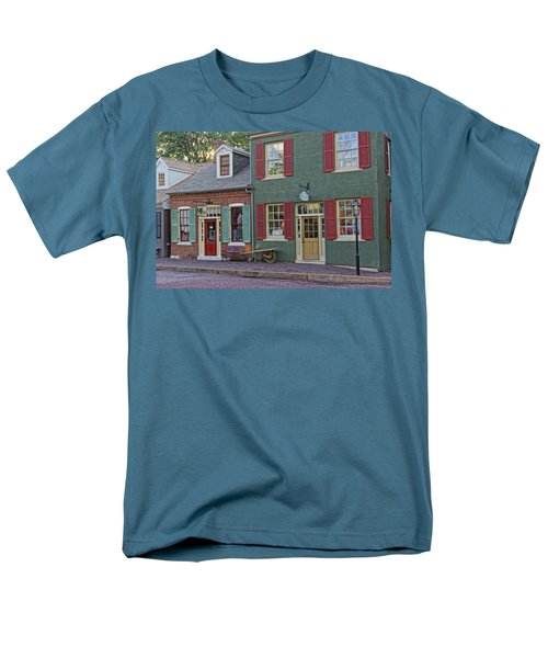 Shops S Main St Charles Mo Dsc00886  Men's T-Shirt  (Regular Fit) by Greg Kluempers