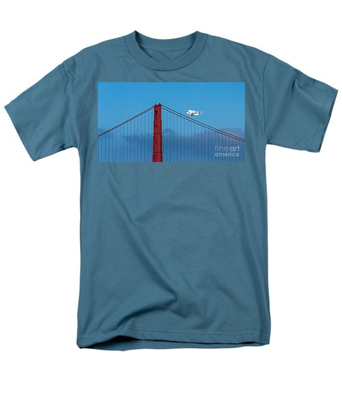 Shuttle Endeavour At The Golden Gate Men's T-Shirt  (Regular Fit) by Kate Brown