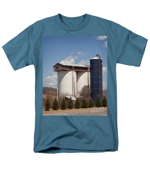 Silo House With A View - Color Men's T-Shirt  (Regular Fit) by Carol Lynn Coronios