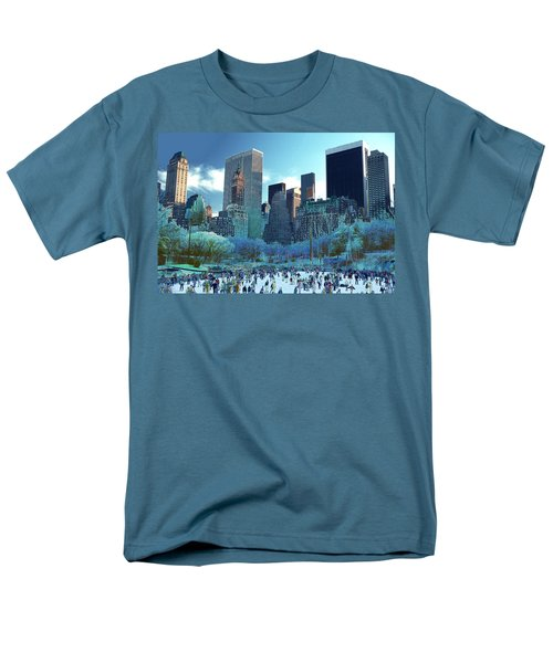 Men's T-Shirt  (Regular Fit) featuring the photograph Skating Fantasy Wollman Rink New York City by Tom Wurl