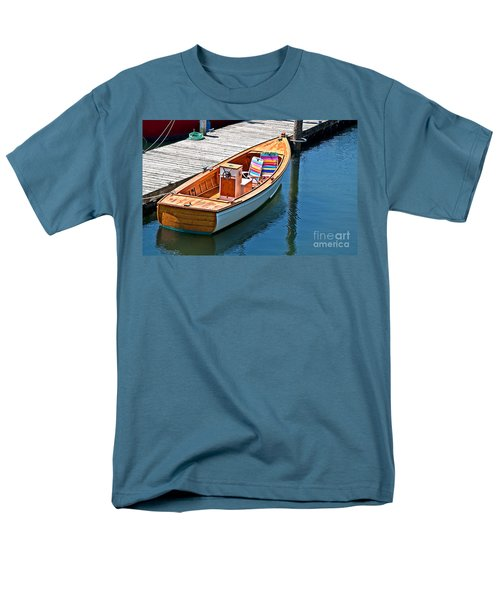 Men's T-Shirt  (Regular Fit) featuring the photograph Small Dinghy Boat Art Prints by Valerie Garner