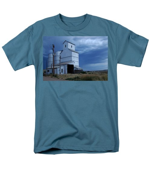 Men's T-Shirt  (Regular Fit) featuring the photograph Small Town Hot Night Big Storm by Cathy Anderson