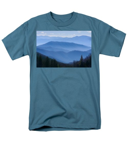 Smoky Mountains Men's T-Shirt  (Regular Fit) by Melinda Fawver