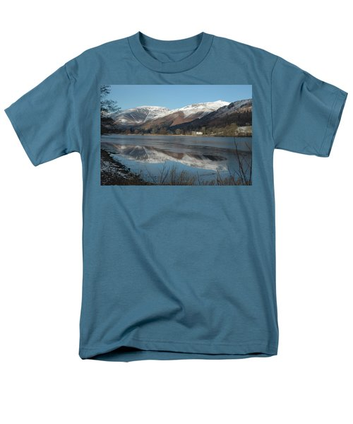 Snow Lake Reflections Men's T-Shirt  (Regular Fit) by Kathy Spall