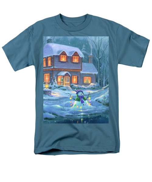 Snowy Bright Night Men's T-Shirt  (Regular Fit)