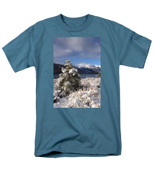Snowy Pine  Men's T-Shirt  (Regular Fit) by Duncan Selby