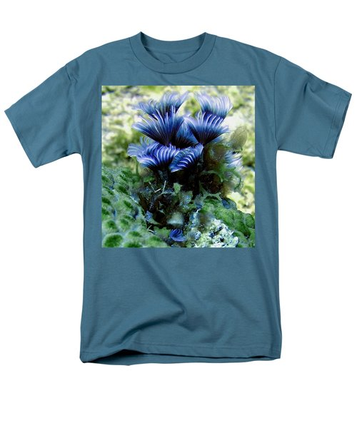 Men's T-Shirt  (Regular Fit) featuring the photograph Social Feather Duster Cluster - A Social Gathering by Amy McDaniel