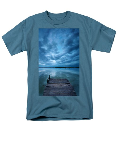 Solitary Pier Men's T-Shirt  (Regular Fit) by Davorin Mance