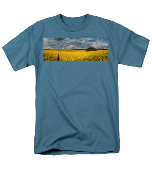 Spring At Oilseed Rape Field Men's T-Shirt  (Regular Fit) by Davorin Mance