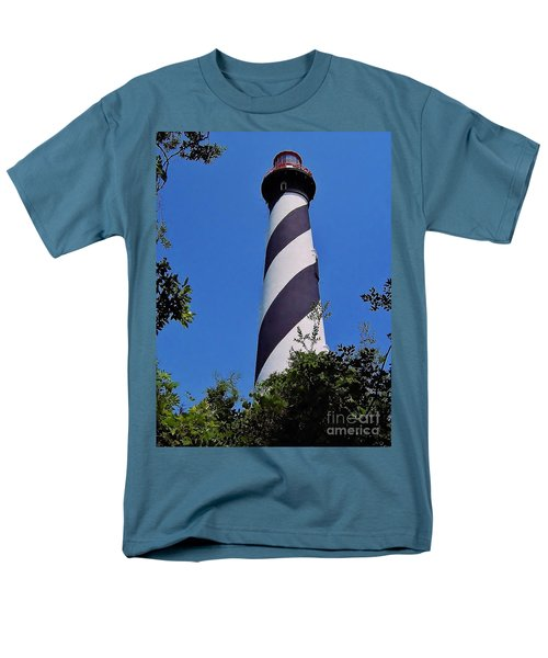 St Augustine Lighthouse Men's T-Shirt  (Regular Fit) by D Hackett