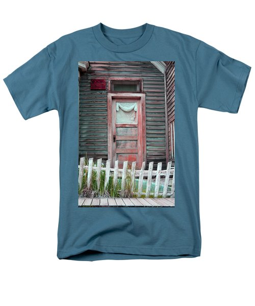 Men's T-Shirt  (Regular Fit) featuring the photograph St. Elmo Door Salmon by Lanita Williams