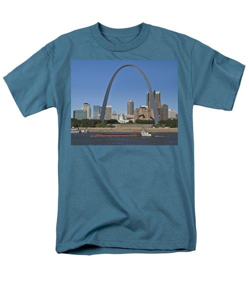 St Louis Skyline Men's T-Shirt  (Regular Fit) by Garry McMichael