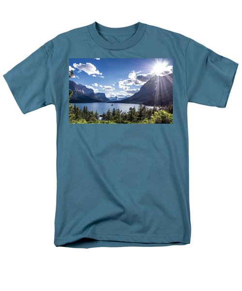 St. Mary Lake Men's T-Shirt  (Regular Fit) by Aaron Aldrich