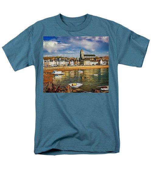 Men's T-Shirt  (Regular Fit) featuring the photograph Saint Servan Anse by Elf Evans