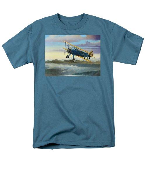Stearman Biplane Men's T-Shirt  (Regular Fit) by Stuart Swartz