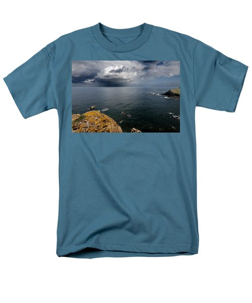A Mediterranean Sea View From Sa Mesquida In Minorca Island - Storm Is Coming To Island Shore Men's T-Shirt  (Regular Fit) by Pedro Cardona
