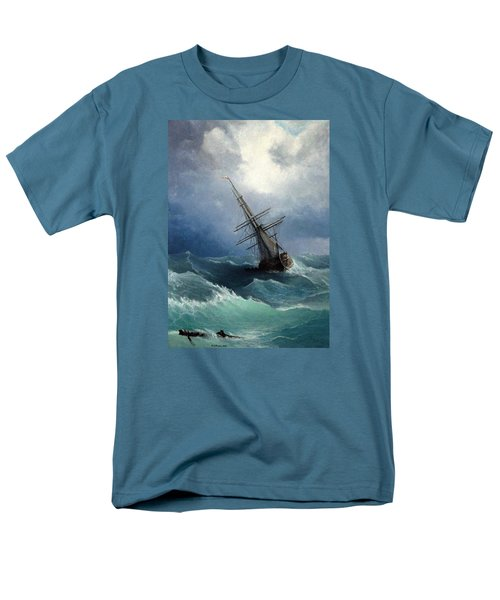 Men's T-Shirt  (Regular Fit) featuring the painting Storm by Mikhail Savchenko
