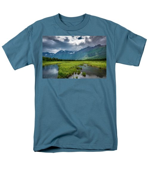 Storm Over The Mountains Men's T-Shirt  (Regular Fit) by Andrew Matwijec